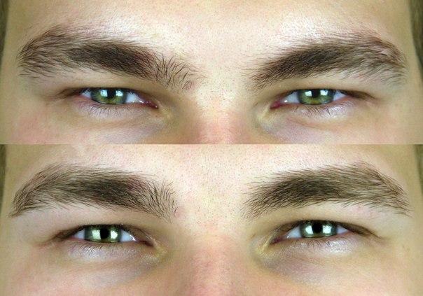Оформление бровей для мужчин